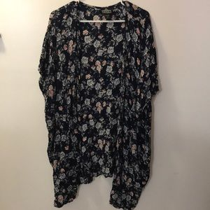Dark navy floral cardigan
